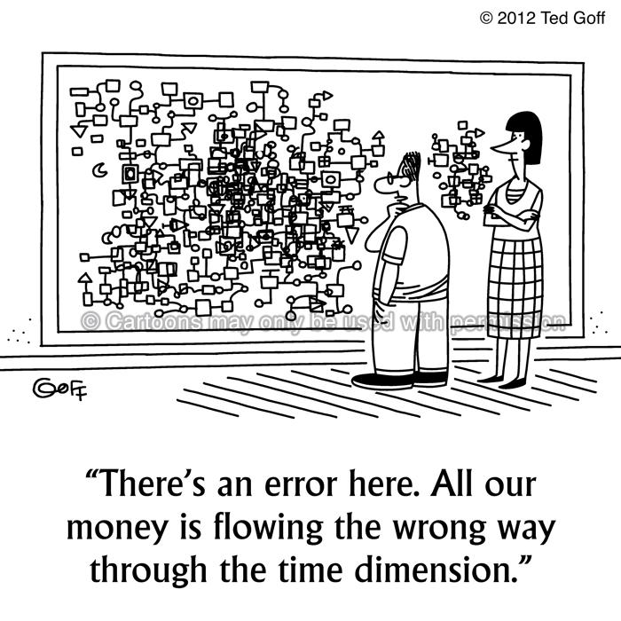Cartoon about financial