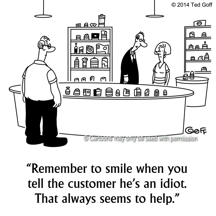 Cartoon about retail