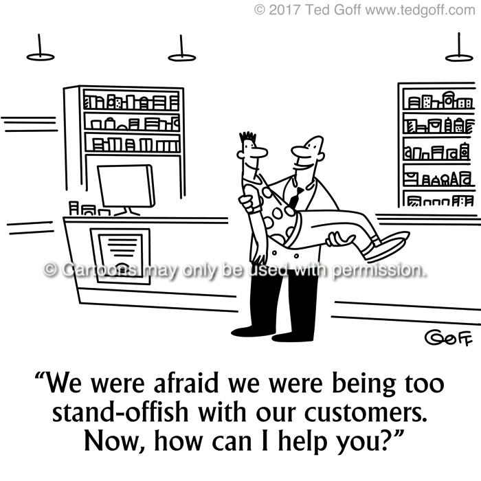 Cartoon about customer service