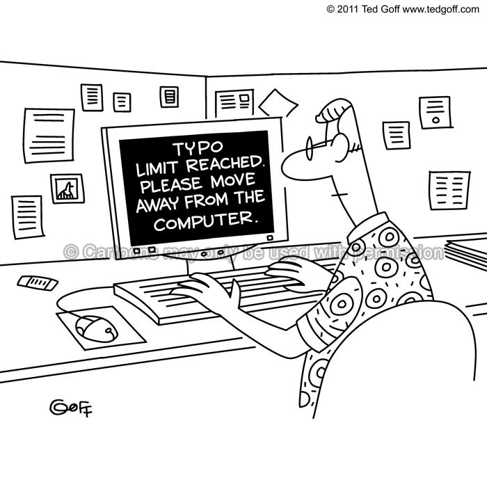 Cartoon about computer