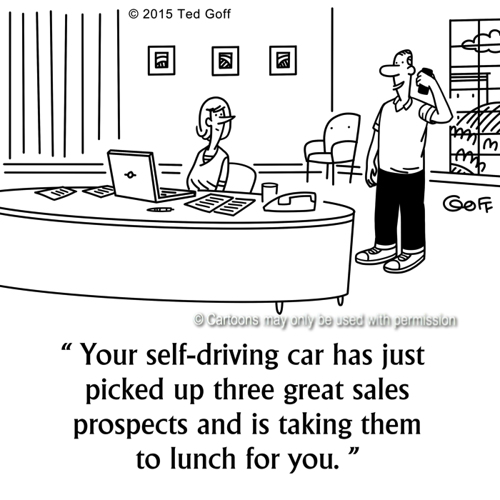 Cartoon about sales