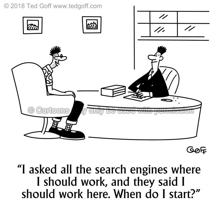 Cartoon about hiring