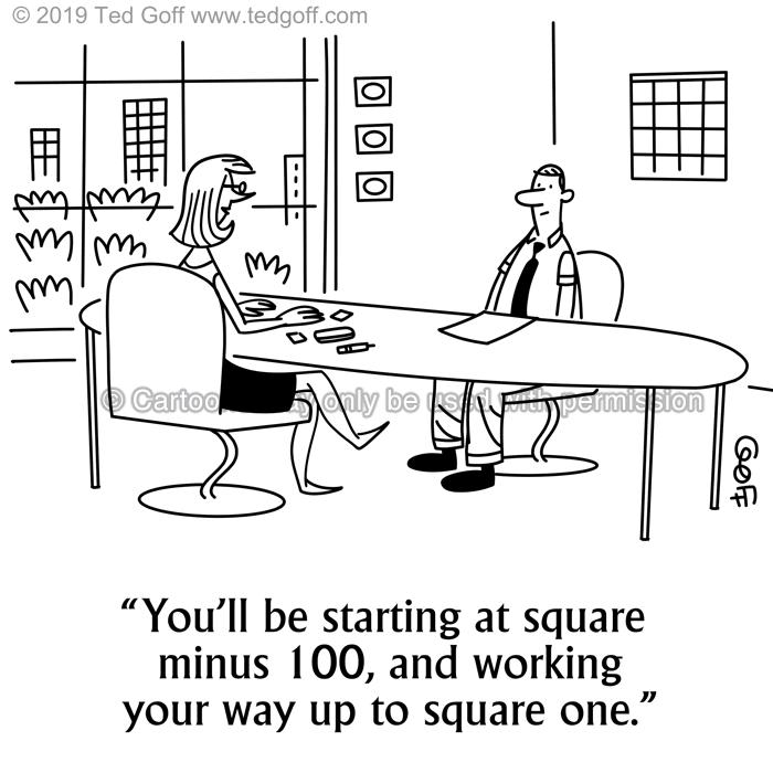Cartoon about hiring