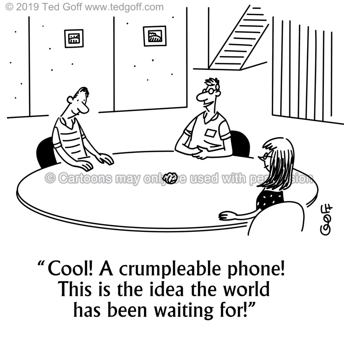 Cartoon about telephone